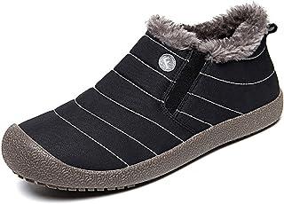 [Shevalues] メンズ&レディース スノーブーツ 雪靴 防水 防寒 防滑 スリッポンブーツ ウィンターブーツ 軽量 ショートブーツ 滑り止め 綿靴 バレンタインデー