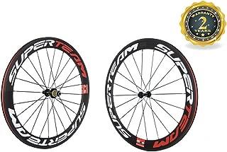 Superteam Carbon Clincher 700c 60mm Road Bike Wheels Matte Finish 23mm Width Rim