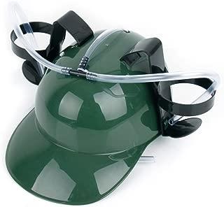 Unisex Hands Free Drinking Hat Plastic Straw Lazy Party Beer Soda Cap Helmet