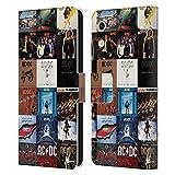 Head Hülle Designs Offizielle AC/DC ACDC Albumcover Collage Leder Brieftaschen Handyhülle Hülle Huelle kompatibel mit Huawei Honor Play 8A