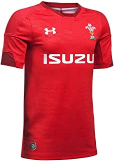 2018-2019 Wales Rugby Home WRU Supporters Football Soccer T-Shirt Jersey (Red) - Kids