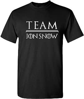 Team Jon Snow - Game of Thrones Final Season Adult Short Sleeve Tee Shirt