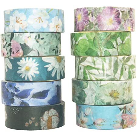 Watercolor in green washi tape 35 World Craft Japan dreamy pastels for bullet journal planner decorative masking scrapbook papercraft tape