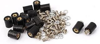 uxcell 15 Pcs M3 Brass Insert Thread 8x10mm Insulated Standoff Terminals