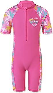 TFJH E Girls Swimsuit UPF 50+ UV One Piece Swimwear Little Watermelon 3-10 Years