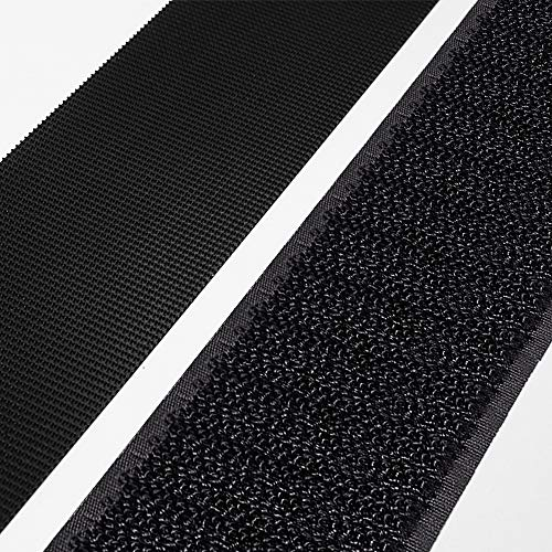 SOON GO Self Adhesive Hook and Loop Tape Strips 1 Inch x 5 Yards Heavy Duty Industrial Strength Fasteners Indoor Outdoor Use Black