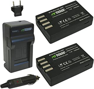 Wasabi Power Battery (2-Pack) and Charger for Pentax D-LI109 and Pentax K-r, K-30, K-50, K-500