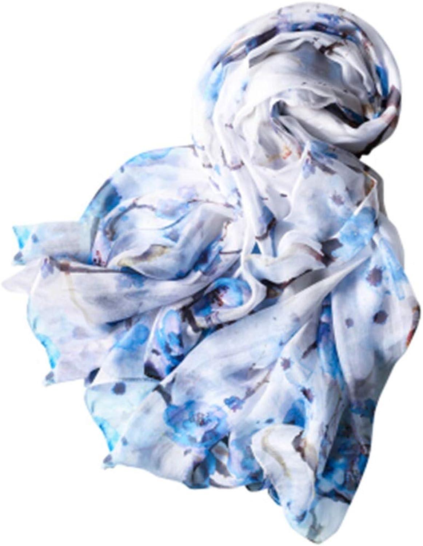 Silk Scarves, Silk Four Seasons Long Shawl, Fashion Wild New Silk Scarf (color   C)