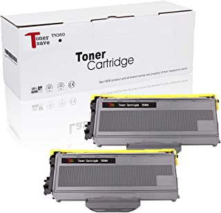 Tonersave Compatible TN360 TN-360 TN330 Toner Cartridge for Brother HL-2140 HL-2170 HL-2170W MFC-7840W MFC-7440N DCP-7040 DCP-7045N Ricoh Aficio SP 1200 Laser Printer (Black,2-Pack)