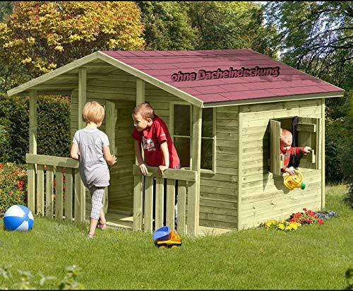 Großes Kinderspielhaus Lisa mit Veranda (Gartenpirat®) - 3