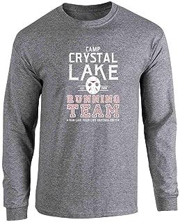 Pop Threads Camp Crystal Lake Running Team Horror Costume Full Long Sleeve Tee T-Shirt