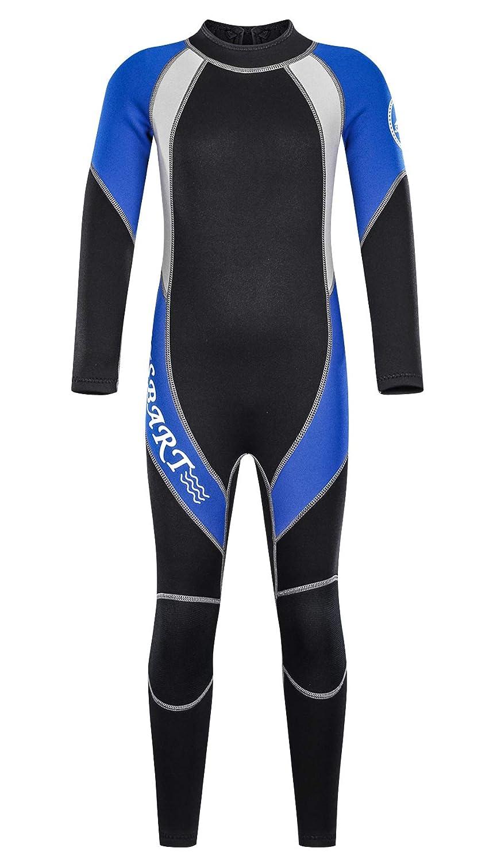 Sbart キッズ ウェットスーツ 2mm ネオプレン ロング サーマル 水着 日焼け防止 水着 XXX-Large ブルー