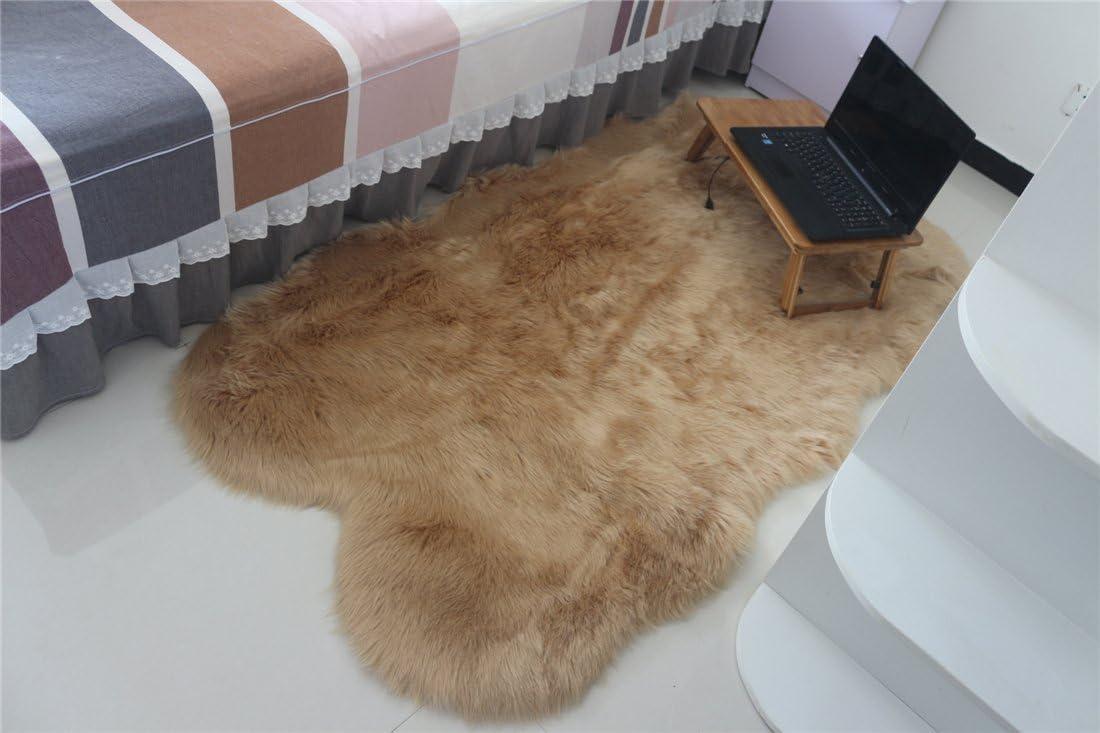 Manufacturer OFFicial shop Faux Sheepskin Area Rug Chair Cover Pad Dallas Mall Plain R Shaggy Seat