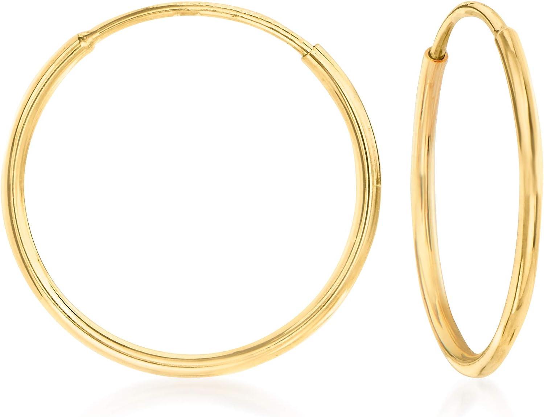 Ross-Simons 14kt Yellow Gold Endless Hoop Earrings