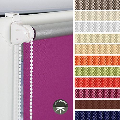 HOMELIA Klemmfix-Rollo Verdunklung mit Thermobeschichtung inkl. Klemmträger 080 x 150 apfelgrün, Verschiedene Größen und Farben