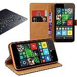 Eximmobile Book Hülle Handytasche + Panzerfolie für Microsoft Lumia 435 | Schutzhülle Schwarz mit Kartenfächer aus Kunstleder Handyhülle Echt Glasfolie Schutzfolie Bildschirmschutzfolie Folie Etui Cover