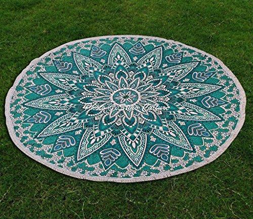Stylo Culture Indien Rondie Mandala Jeter Vert Bleu 72\