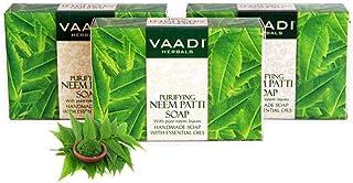 Vaadi Herbals Organic Neem Soap with Pure Neem Leaves (Anti Bacterial) - Detoxifies Skin (3 x 75 gms / 2.7 oz)