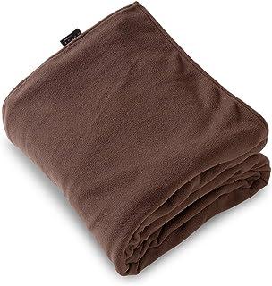 mofua (モフア) 掛け布団カバー マイクロフリース あったか ファスナー式 シングル ブラウン 50070106