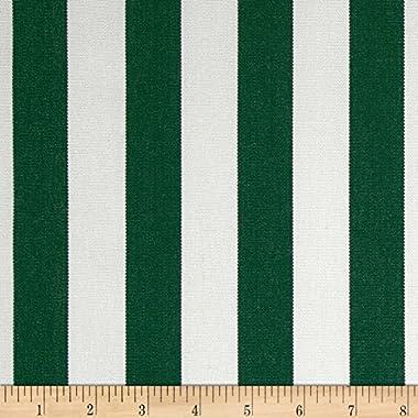 Sunbrella Mason Stripe 5630-0000, Yard, Forest Green