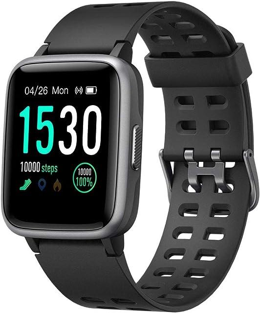 YAMAY Smartwatch Impermeable Reloj Inteligente con Cronómetro Pulsera Actividad Inteligente para Deporte Reloj de Fitness con Podómetro Smartwatch Mujer Hombre niños para Xiaomi HuaweiI Teléfono