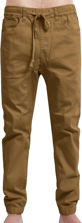 NE PEOPLE Mens Lightweight OFFicial mail order Casual Harem High quality Adjustabl Slim Comfy Fit