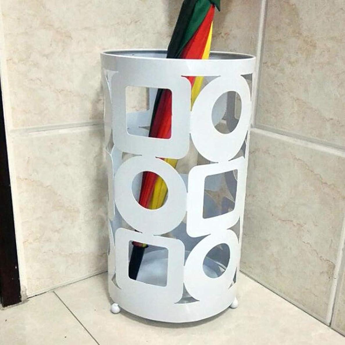 打撃雇う花瓶HYBKY 傘立てホテルロビーホーム錬鉄製傘傘バケツ収納バケツフロアスタンド傘立て25cm?42cm 傘立て (Color : White)