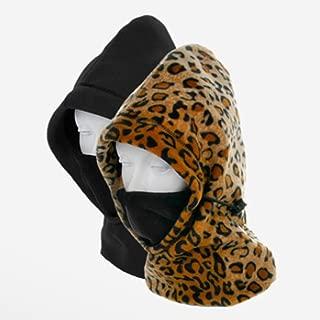 Hot Headz Polarex 6-in-1 Fleece Hood - Leopard