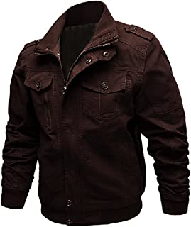 Men's Casual Long Sleeve Full Zip Fashion Outdoor Jacket with Shoulder Straps