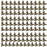 Clips De La Carpeta, Pinzas Para Etiquetas,100 Paquete Bulldog Binder Clips De Papel/Pinzas De Papel Metálicas Para Manualidades, Dibujos, Fotos En Casa Cocina Y Oficina Useage (Bronce)