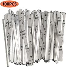 Aluminum Strips Nose Wire Nose Bridge with Adhesive Back Flat Crafts Bendable Nose Guards for face Masks(100PCS)