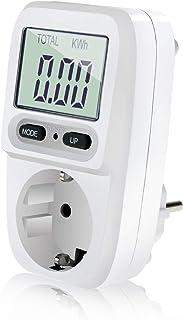 Zaeel Medidor de consumo de corriente del medidor de energía, medidor de consumo de energía eléctrica con pantalla LCD, pr...