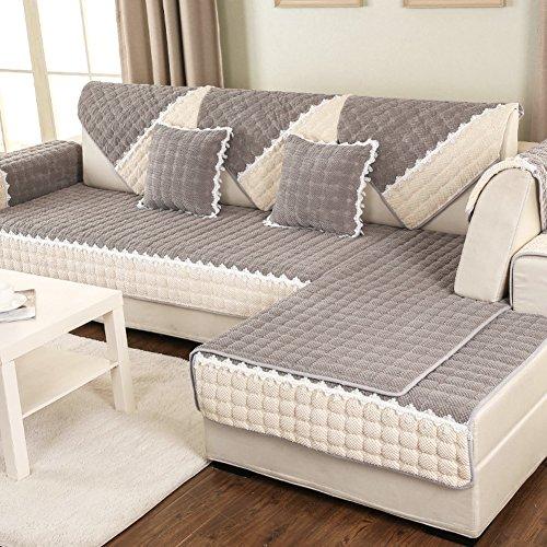 DW&HX Acolchado Protector para sofás Protector de los Muebles para Mascotas Perro,3 Asientos Color sólido Espesar Funda de sofá Antideslizante -I 43x43inch(110x110cm)