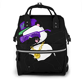 Fashion Dabbing Panda Funny.png Diaper Bag Multi-Function Waterproof Travel Mummy Backpack Nappy Bags for Baby Care, Large Capacity, Stylish and Durable