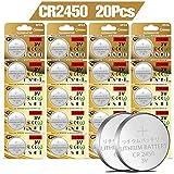 20 Pack RETAOCE CR2450 Battery 3V Lithium Battery Coin Button Cell