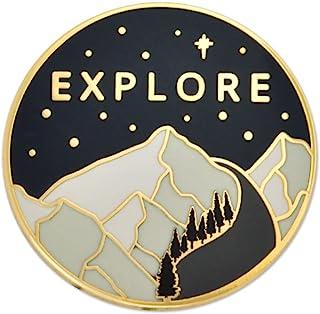 PinMart Explore The Outdoors Adventure Hiking Lover Enamel Lapel Pin
