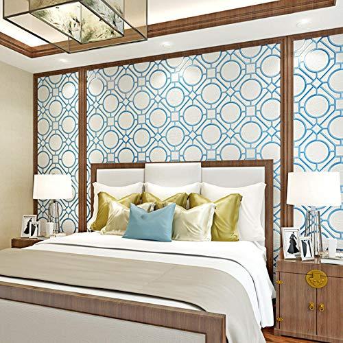 3D Chinese luxe velours vlies, behang verdikt 3D reliëf achtergrond behang, woonkamer slaapkamer TV wandbehang 208 cm (B) x 146 cm (H)