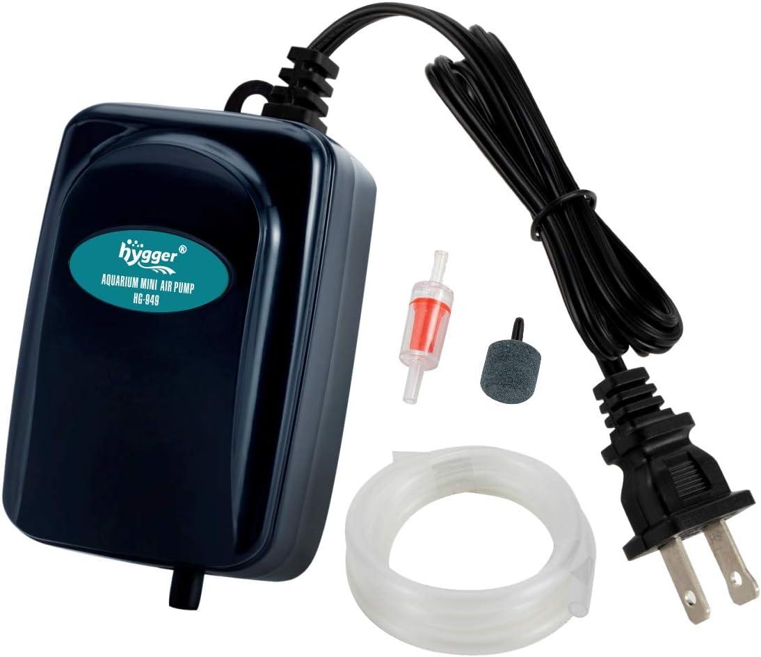 hygger 50GPH Small Air Pump Oxygen 1-35 G for Max 69% OFF Aquarium 4 years warranty