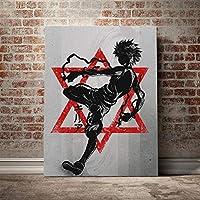キルアゾルディックHXHハンターとハンターポスターキャンバスウォールアートリビング用プリント子供部屋家の寝室の装飾/ 60x80cm(フレームなし)