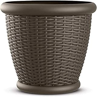 Suncast 1816WJ 18-Inch Resin Wicker Planter