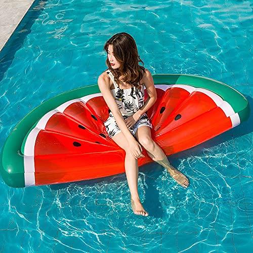 Auflosung Tumbona Gigante para Piscina con Forma De Sandía, Balsa Inflable para Piscina, Bonita Fila Flotante Cojín Flotante, Decoraciones para Fiestas En Piscina para Fiestas De Verano En La Playa