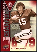 Best Football NFL 2012 Upper Deck University of Alabama National Champions #NCSW Steve Whitman Review