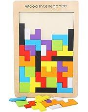木製テトリスパズル ジグソーパズル 知育玩具 おもちゃ (1種類)
