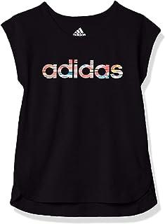 adidas Girls' Short Sleeve Side Slit Tee T-Shirt