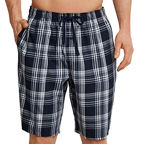 Schiesser Men's Mix & Relax Long Boxer Pyjama Bottoms, Blue (Dark Blue-gem. 835), Small