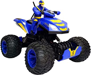 Remote Control Stunt Car, Cross Country Rock 1:12 Off-Road Vehicle Mountain Bike Truck Toy, Children Game Funny Gift Boy Girl Teen Adult Cool Gadget (Color : Blue)