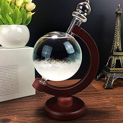 Cristal Previsión meteorológica, previsión meteorológica Gotas de Cristal Forma de Globo Tormenta Cristal Decoración para el hogar