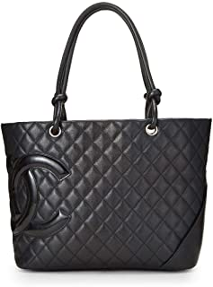 0a0f18a0069c CHANEL Black Quilted Calfskin Cambon Ligne Tote Large (Pre-Owned)