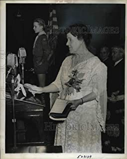 Historic Images - 1939 Vintage Press Photo Rochester, NY Mrs Ida B. Wise Smith, Natl WCTU president