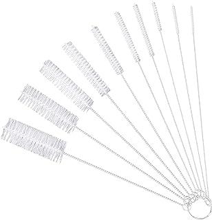 10 Piezas Nylon Cepillos de Botella Tubo Limpieza Cepillo Pajita Cepillos más Limpios Cepillo de Limpieza para Estrecha Cu...